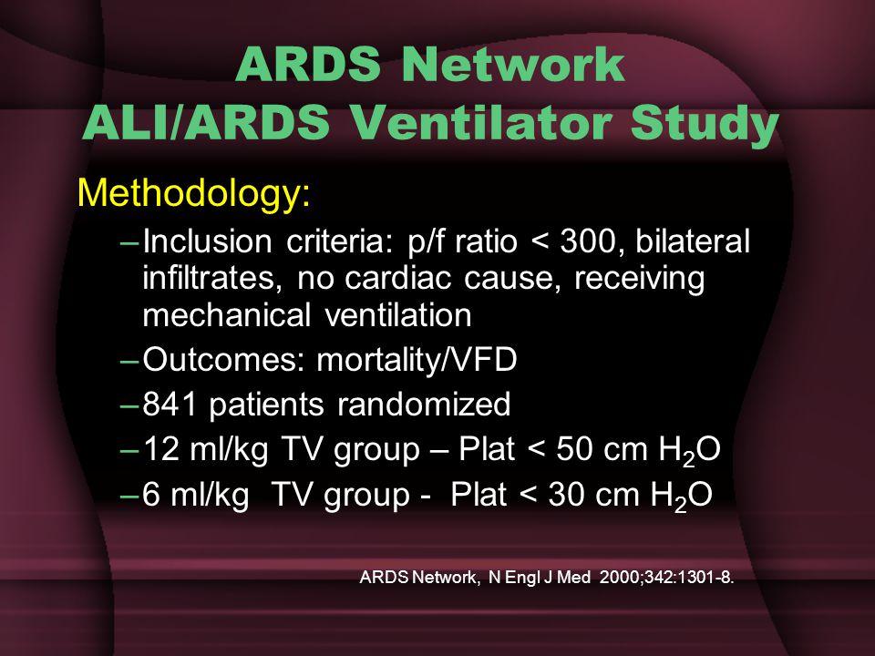 ARDS Network ALI/ARDS Ventilator Study