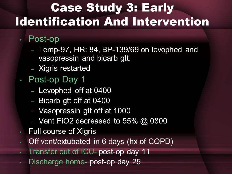 Case Study 3: Early Identification And Intervention