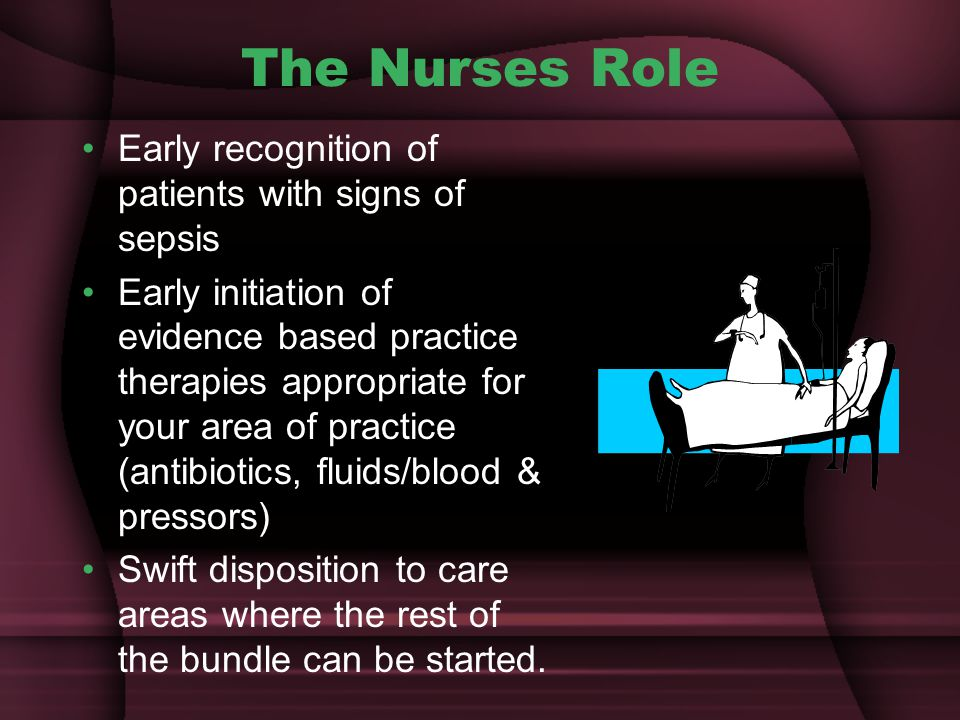 The Nurses Role Early recognition of patients with signs of sepsis