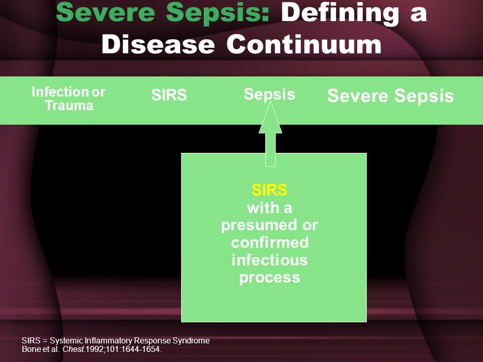 Severe Sepsis: Defining a Disease Continuum