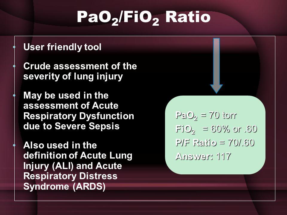PaO2/FiO2 Ratio User friendly tool