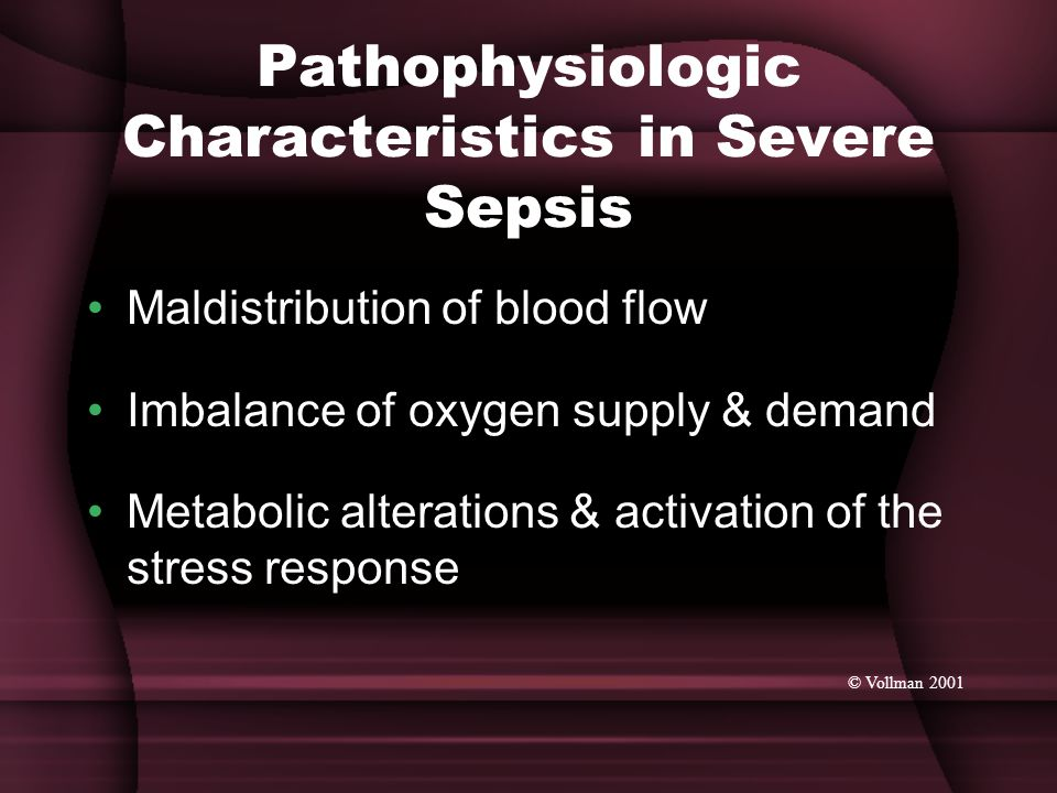Pathophysiologic Characteristics in Severe Sepsis