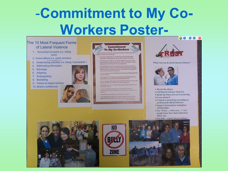 -Commitment to My Co-Workers Poster-