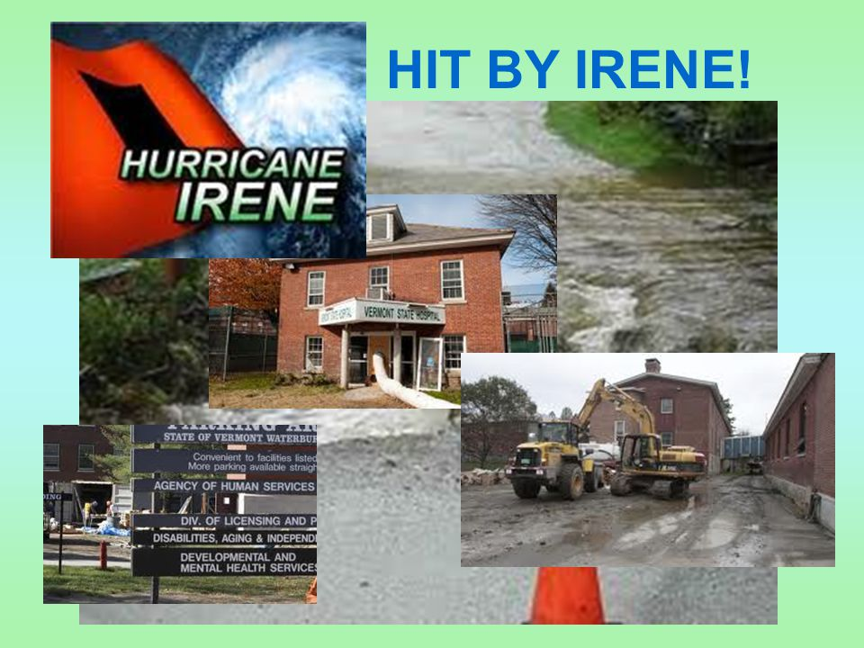 HIT BY IRENE!