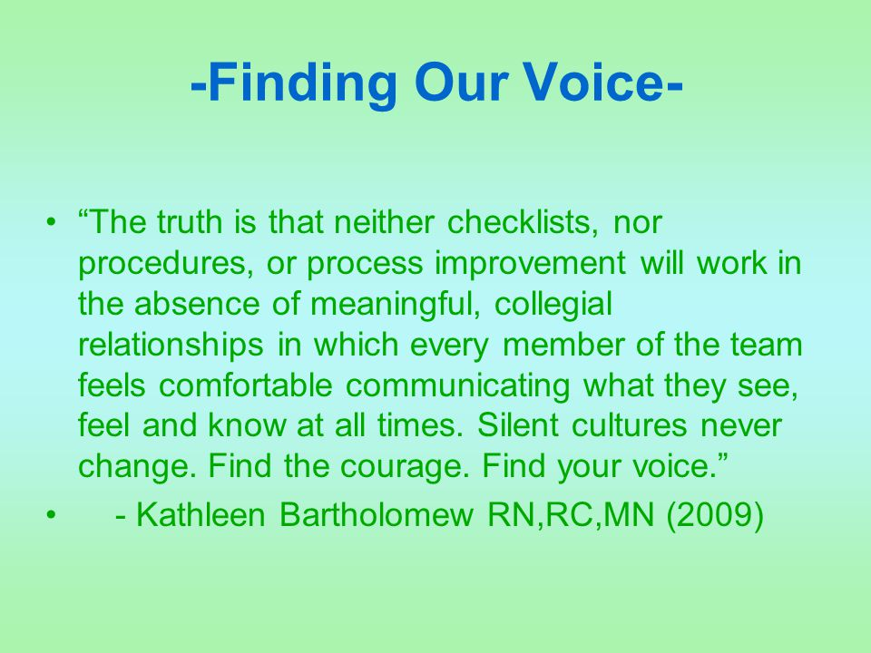 -Finding Our Voice-