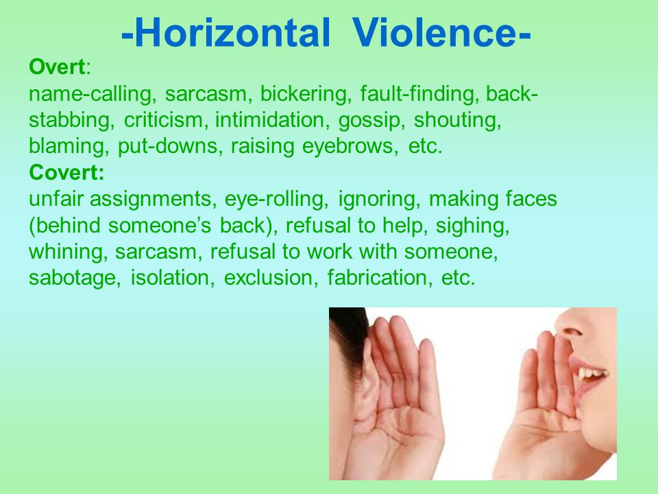 -Horizontal Violence-