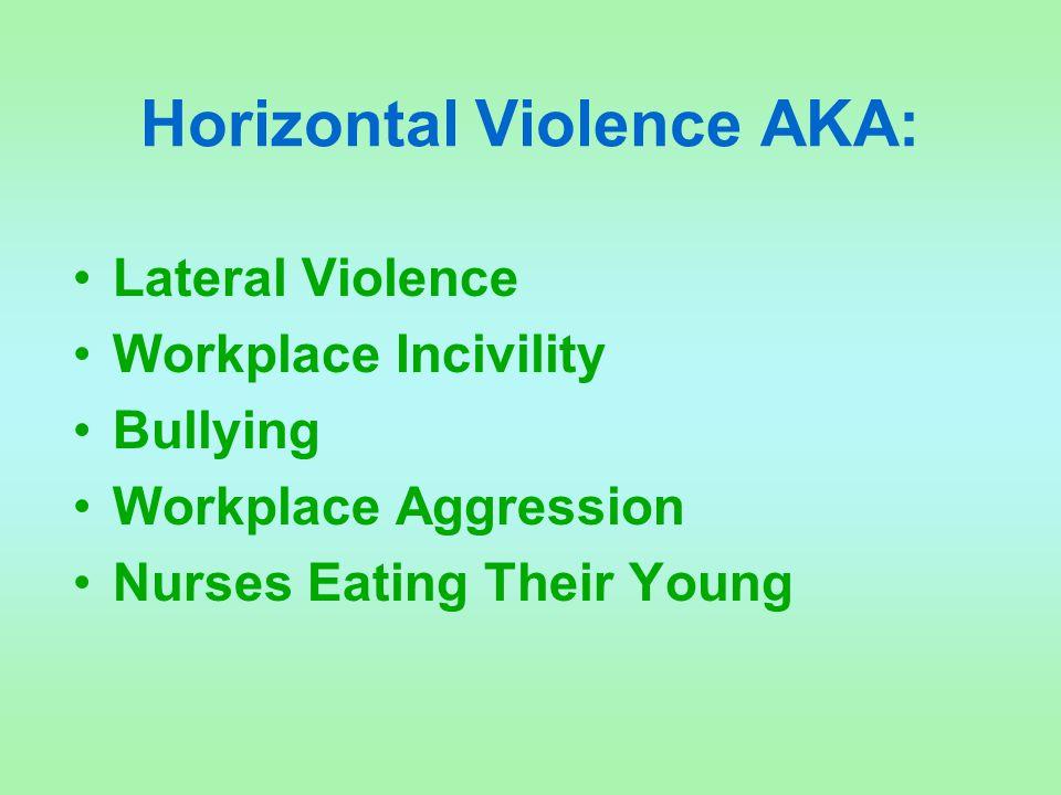Horizontal Violence AKA: