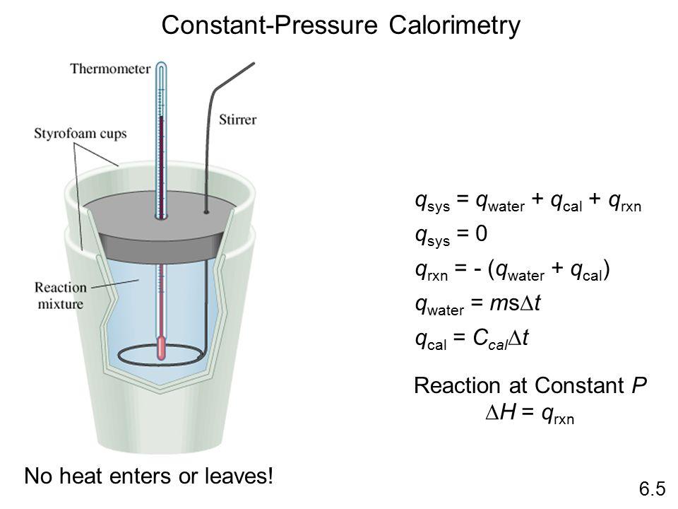 Constant-Pressure Calorimetry