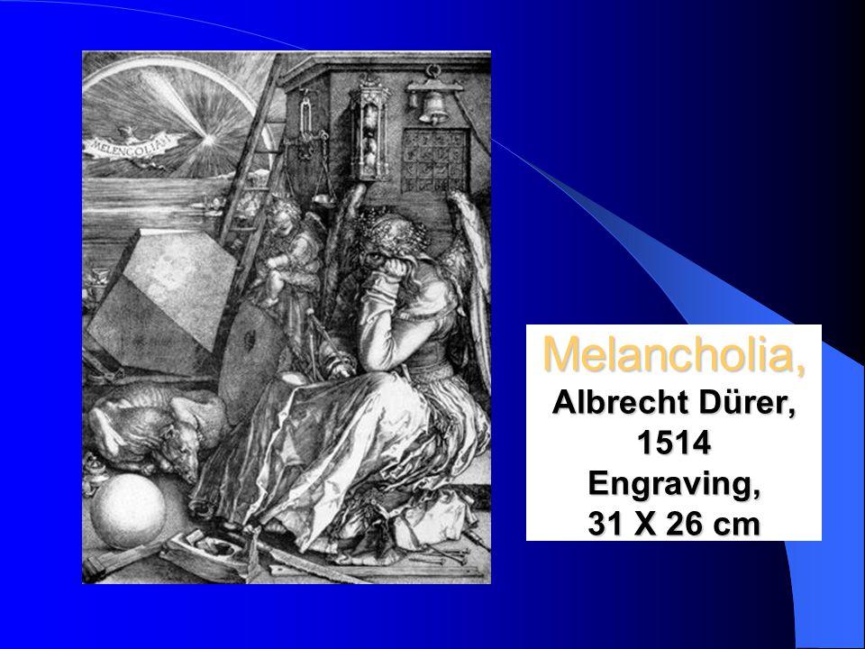 Melancholia, Albrecht Dürer, 1514 Engraving, 31 X 26 cm