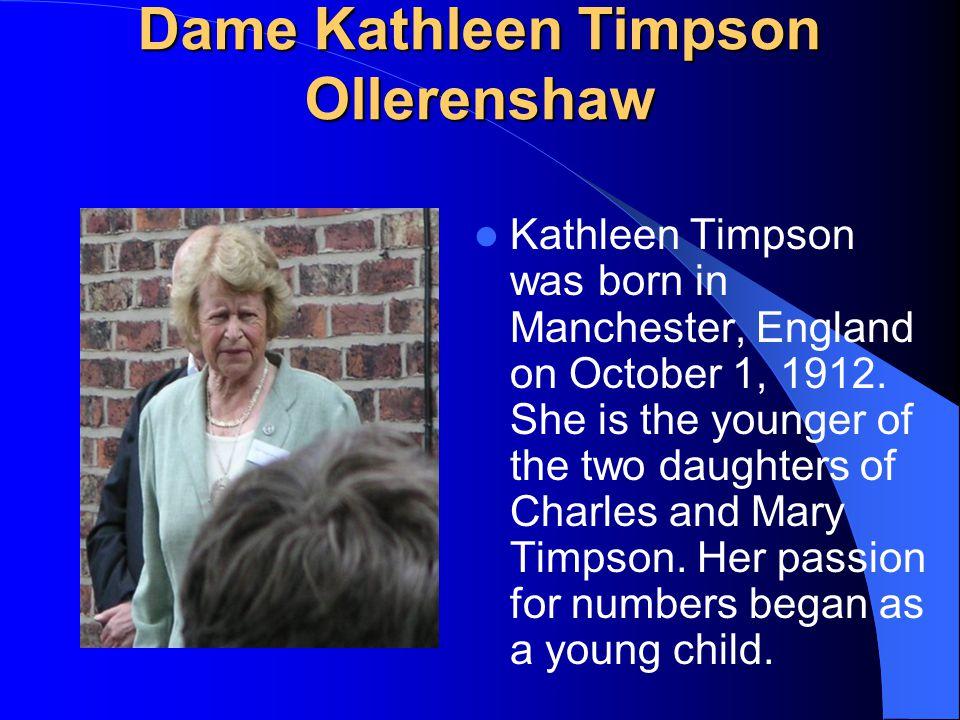 Dame Kathleen Timpson Ollerenshaw