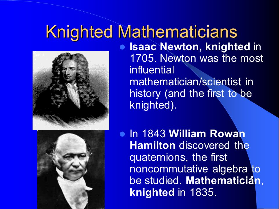 Knighted Mathematicians