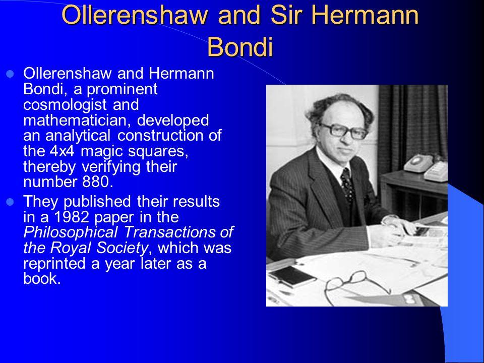 Ollerenshaw and Sir Hermann Bondi
