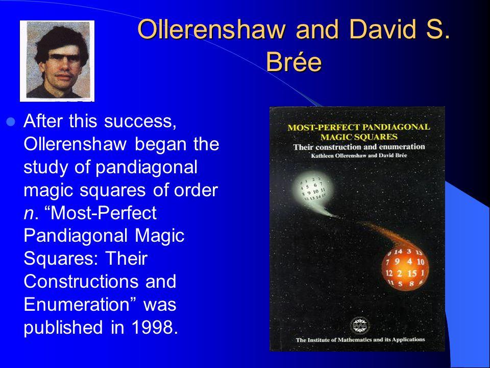 Ollerenshaw and David S. Brée