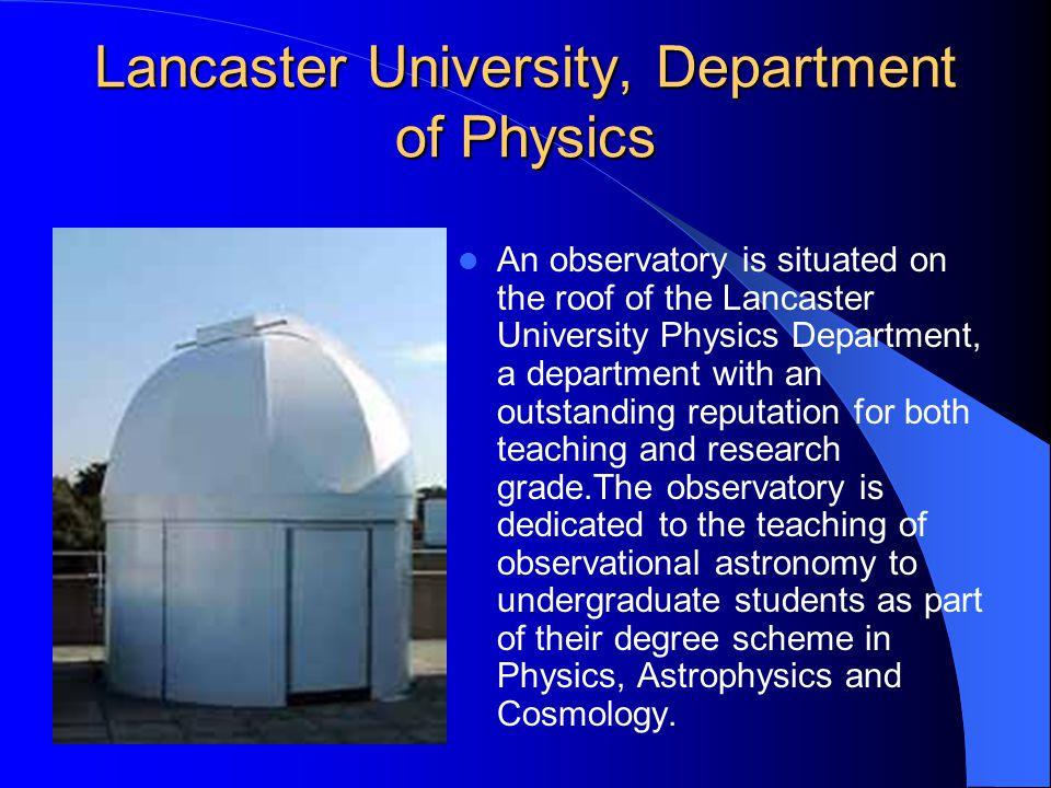 Lancaster University, Department of Physics