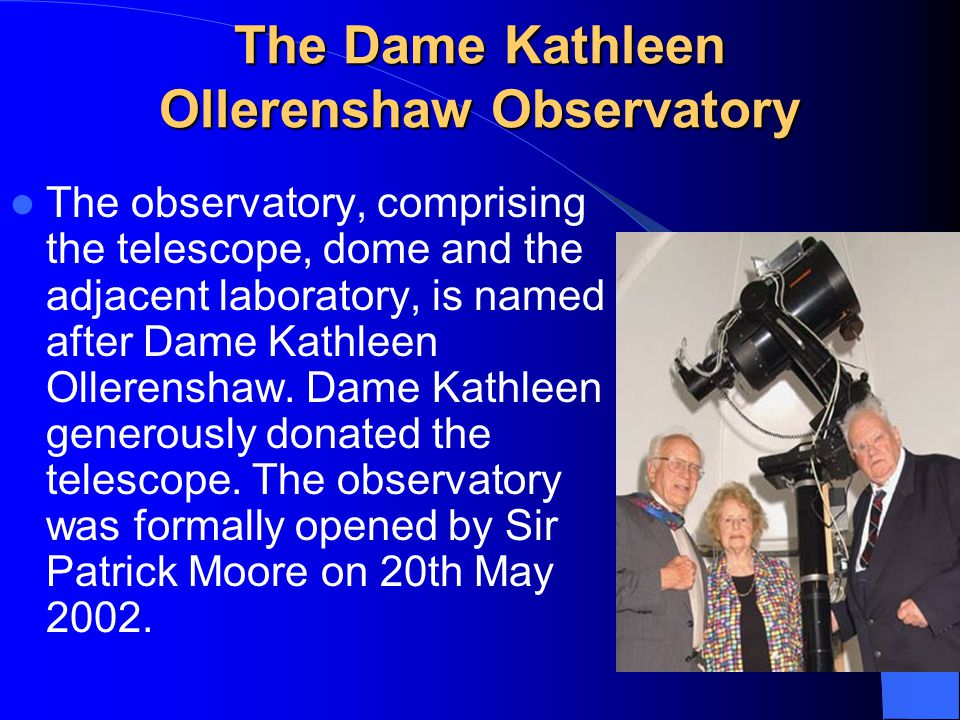 The Dame Kathleen Ollerenshaw Observatory