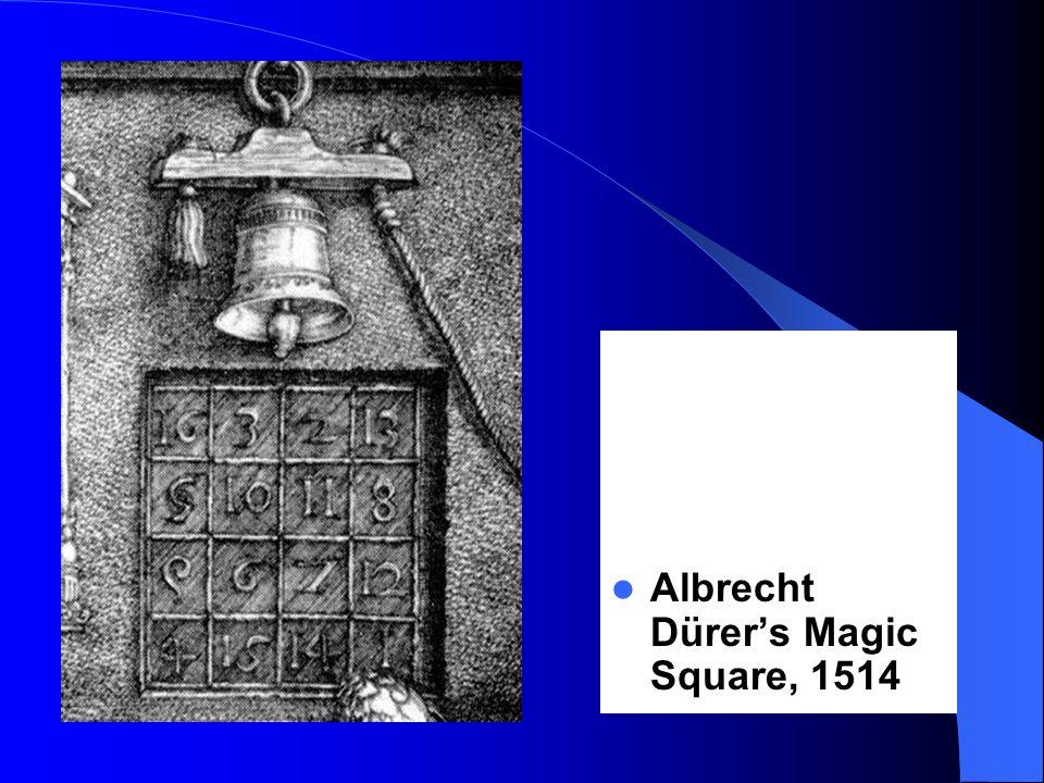 Albrecht Dürer's Magic Square, 1514