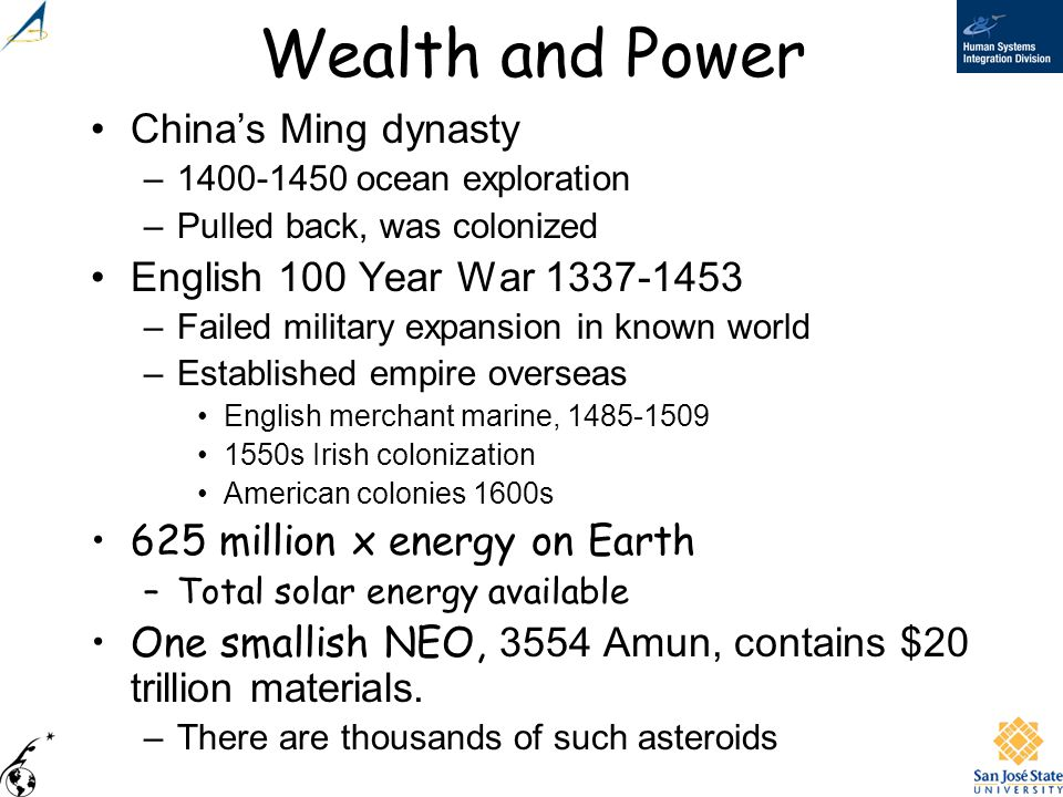 Wealth and Power China's Ming dynasty English 100 Year War 1337-1453