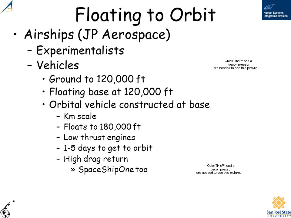 Floating to Orbit Airships (JP Aerospace) Experimentalists Vehicles