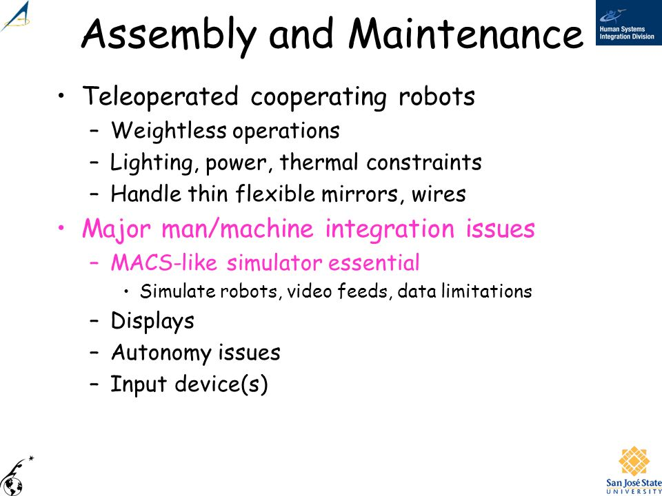 Assembly and Maintenance