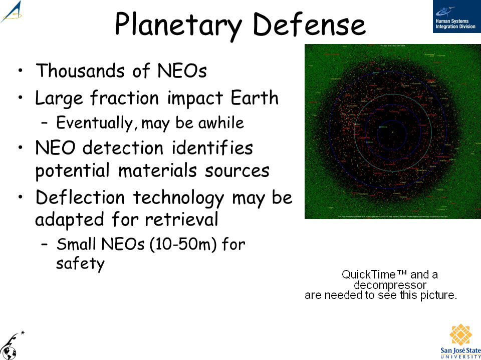 Planetary Defense Thousands of NEOs Large fraction impact Earth
