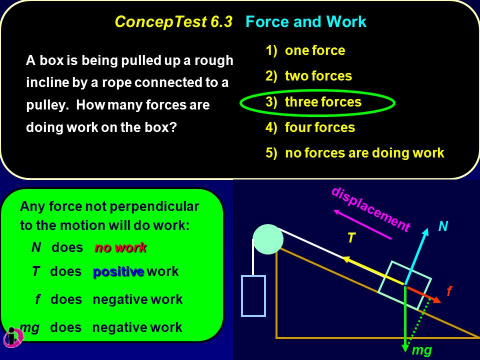 ConcepTest 6.3 Force and Work