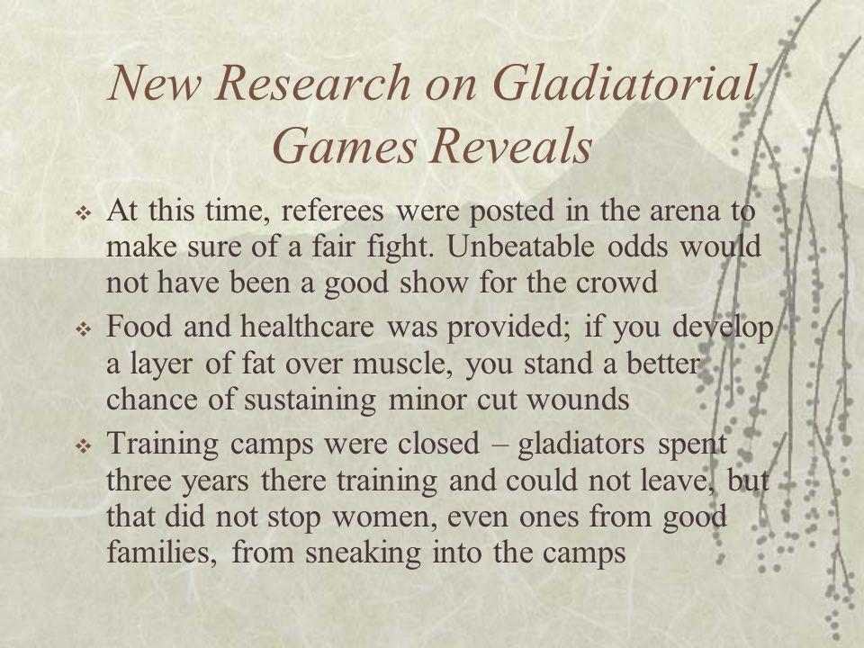 New Research on Gladiatorial Games Reveals