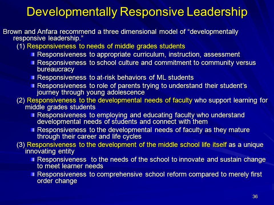 Developmentally Responsive Leadership
