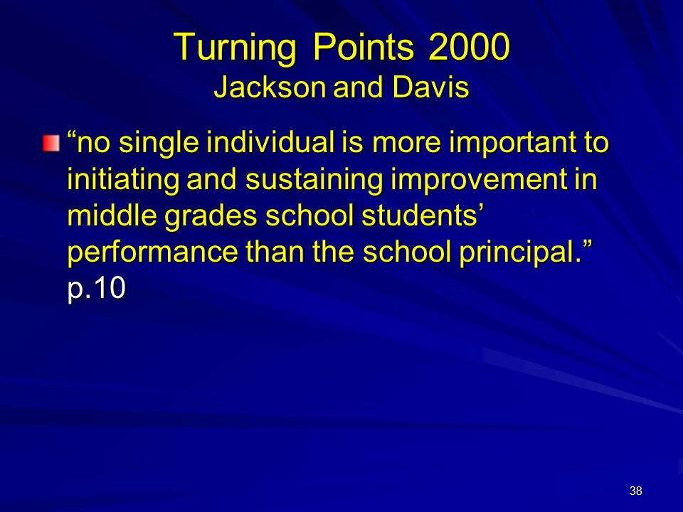 Turning Points 2000 Jackson and Davis