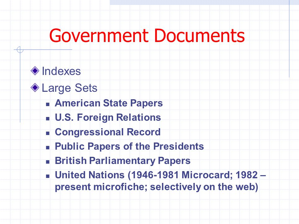 Government Documents Indexes Large Sets American State Papers