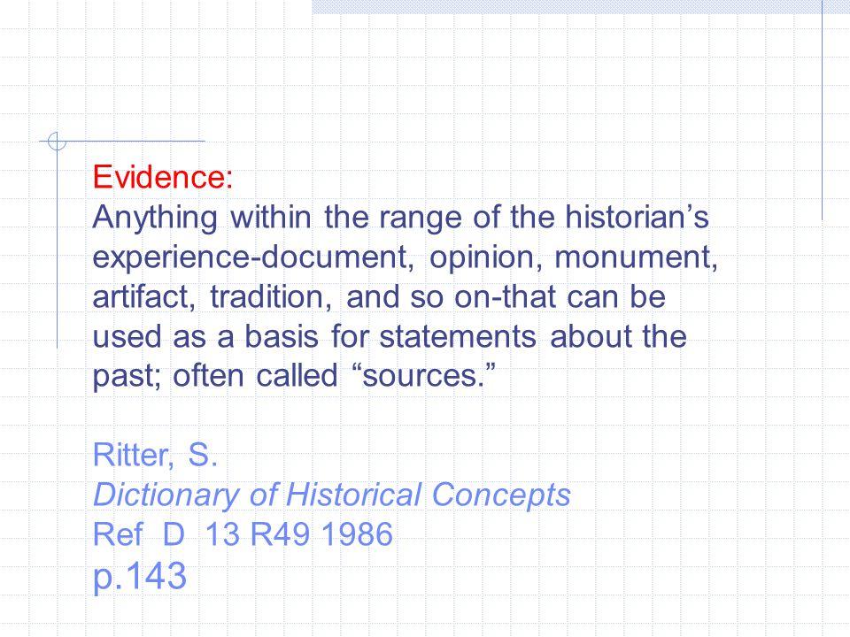 Evidence: