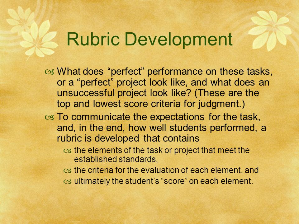 Rubric Development