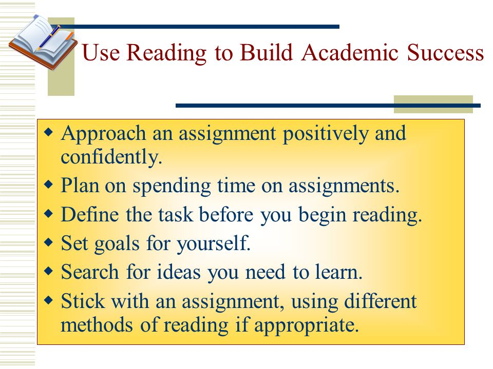 Use Reading to Build Academic Success