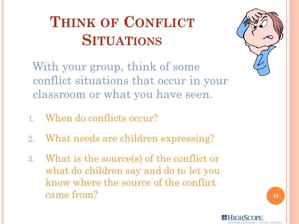 Think of Conflict Situations