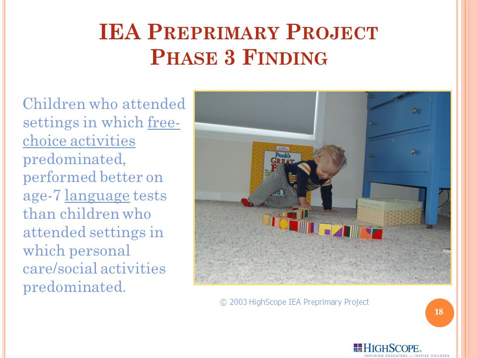 IEA Preprimary Project Phase 3 Finding