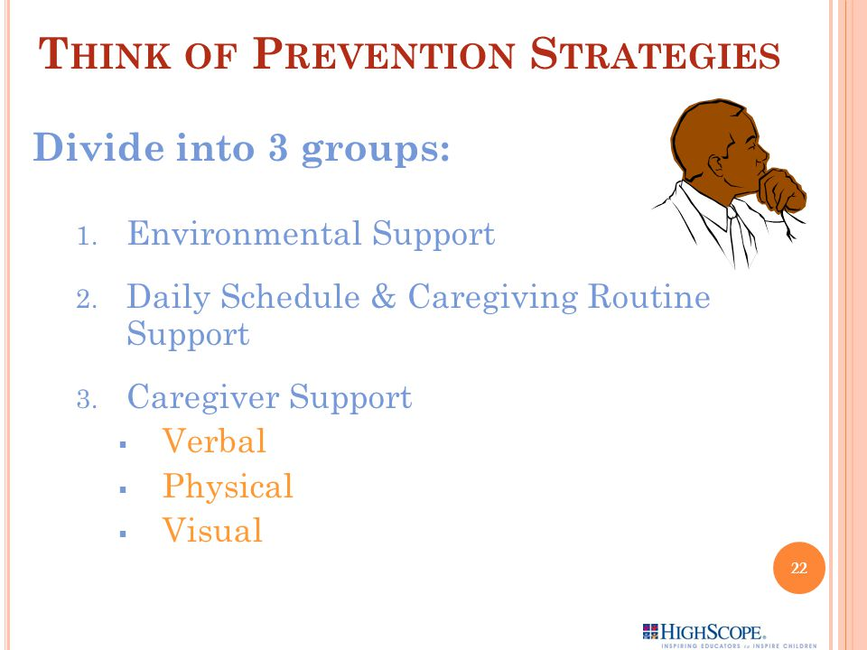 Think of Prevention Strategies