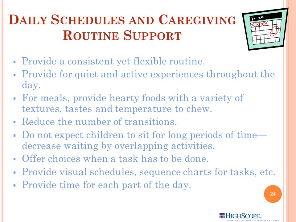 Daily Schedules and Caregiving Routine Support