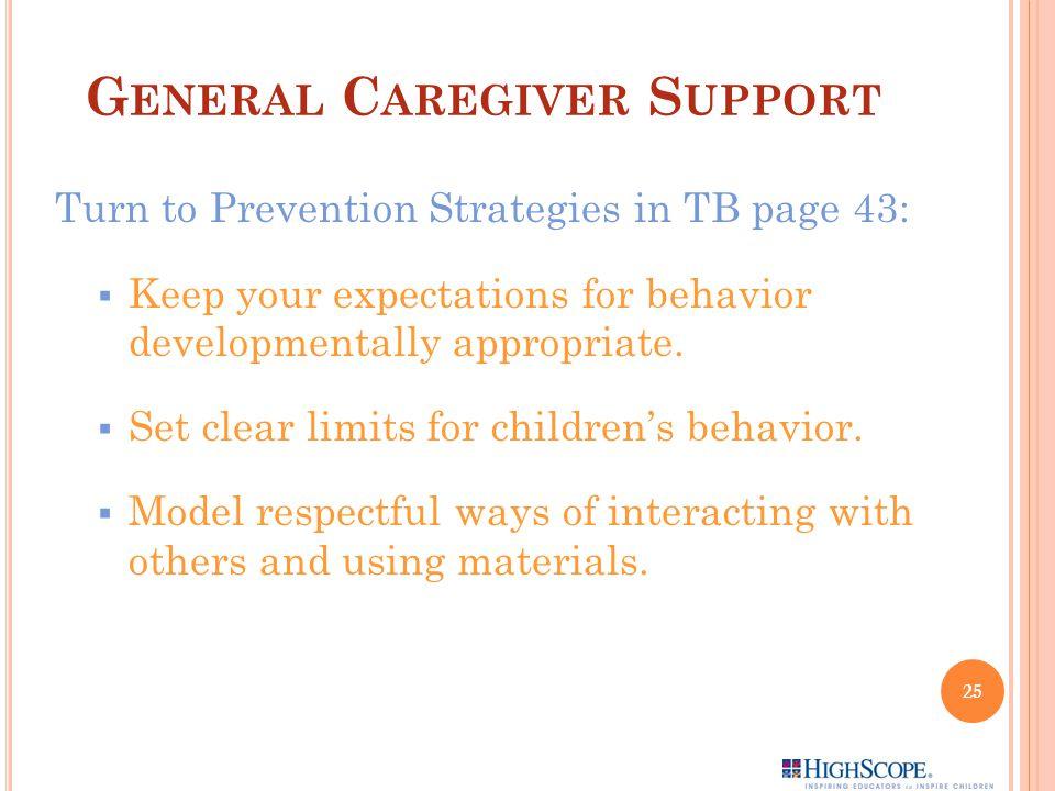 General Caregiver Support