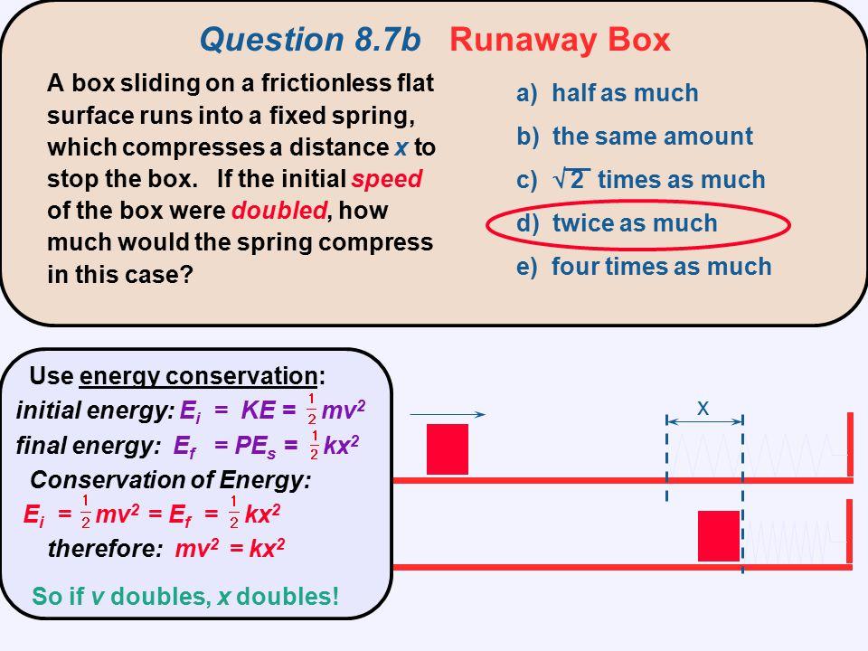 Question 8.7b Runaway Box