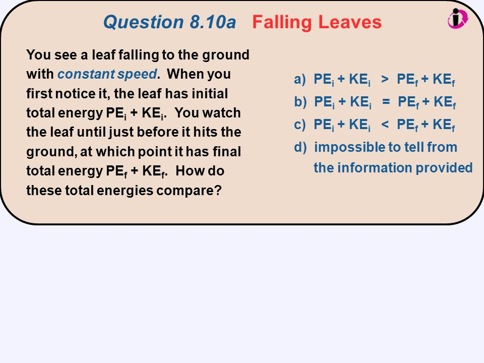 Question 8.10a Falling Leaves