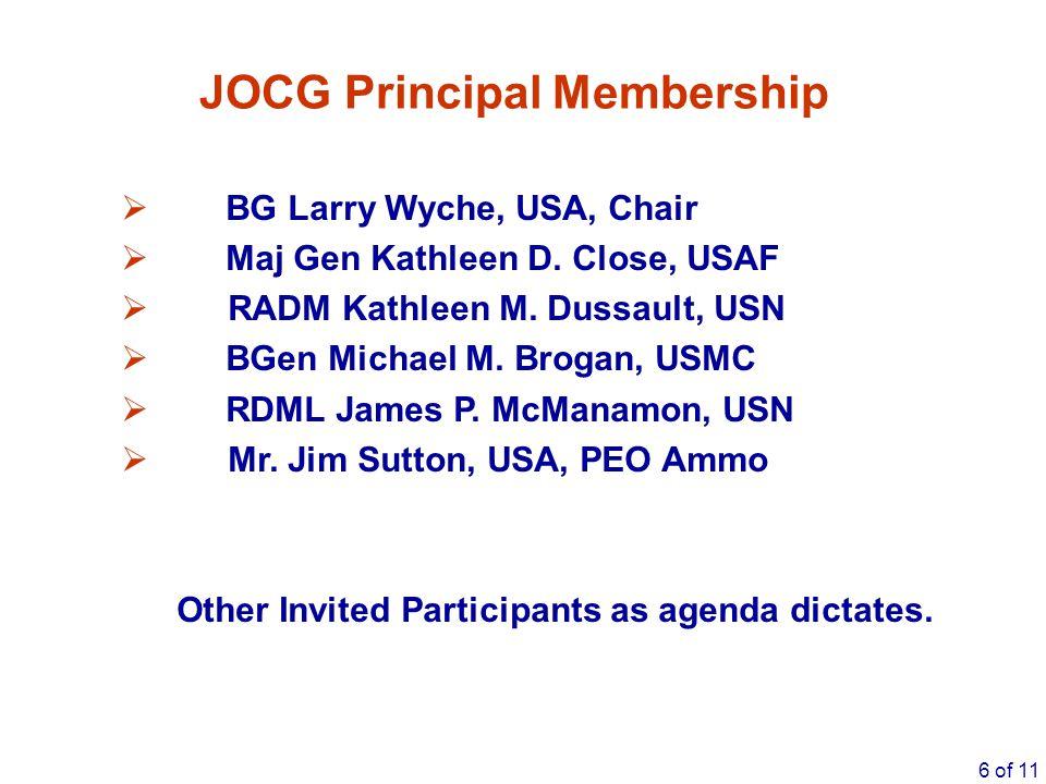 JOCG Principal Membership