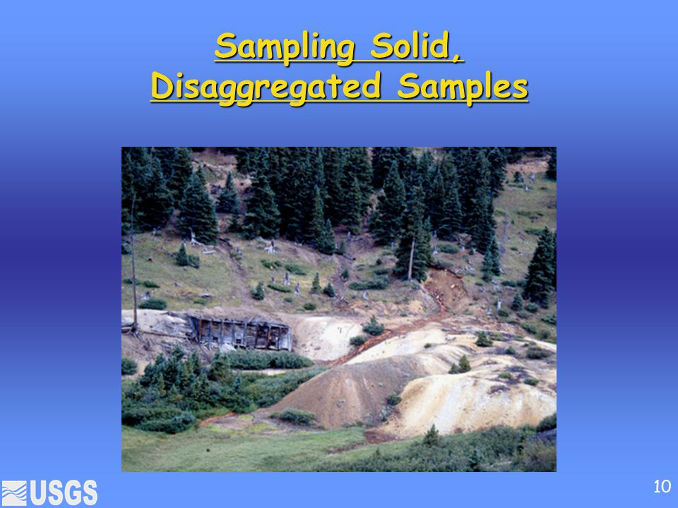 Sampling Solid, Disaggregated Samples