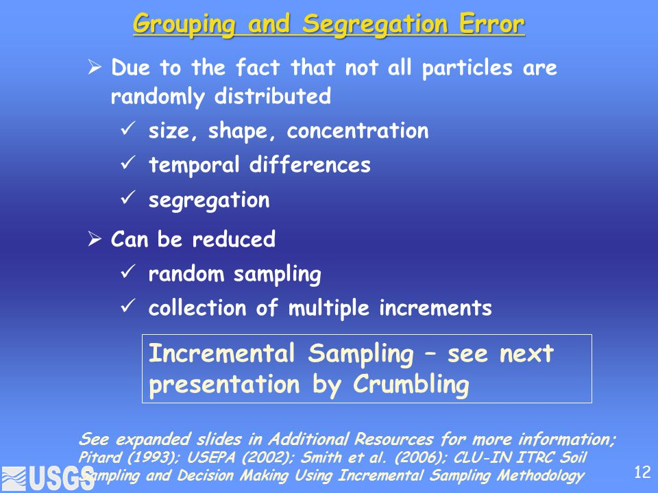 Grouping and Segregation Error