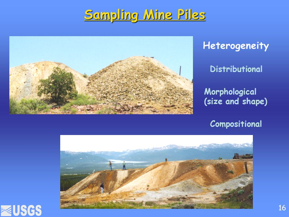 Sampling Mine Piles Heterogeneity Distributional Morphological