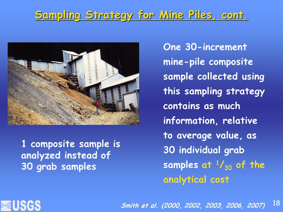 Sampling Strategy for Mine Piles, cont.