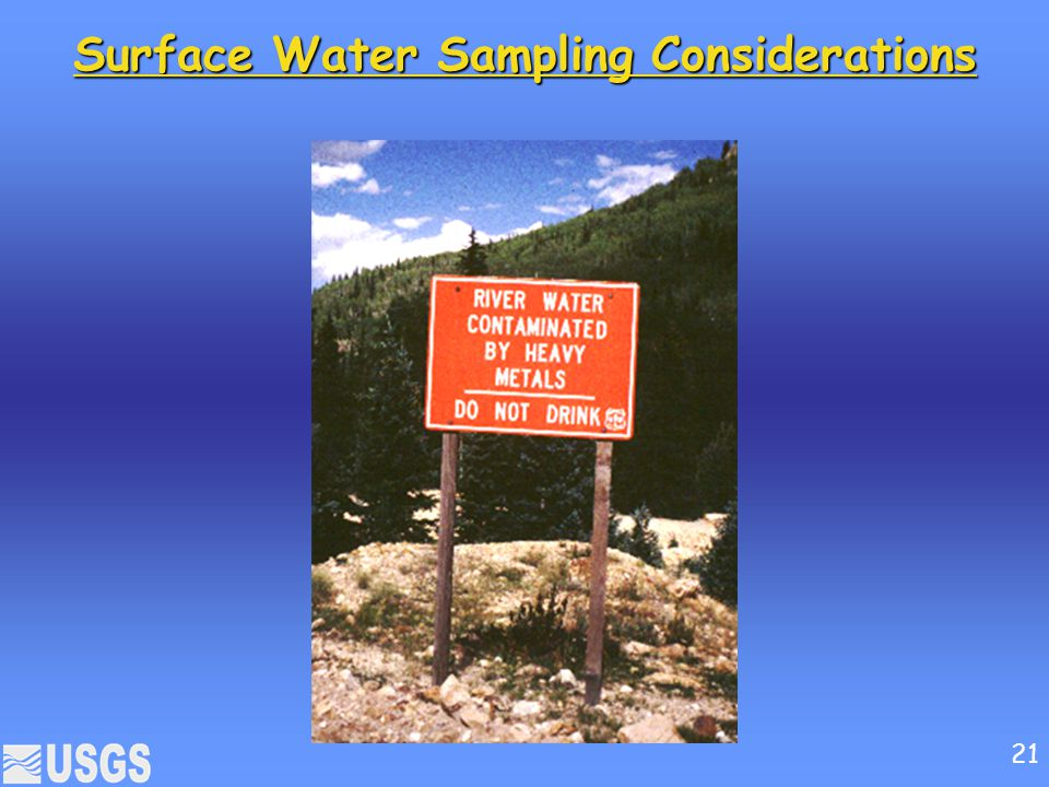 Surface Water Sampling Considerations