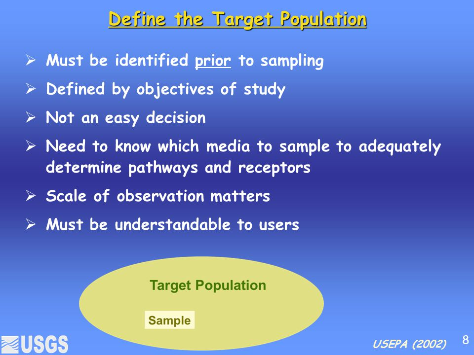 Define the Target Population