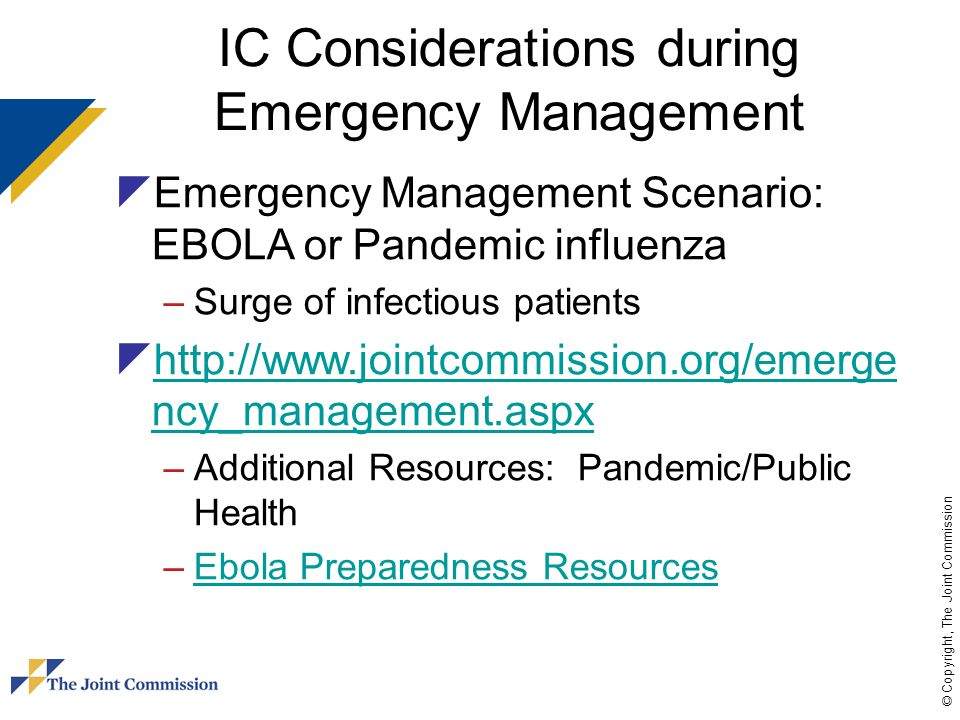 IC Considerations during Emergency Management