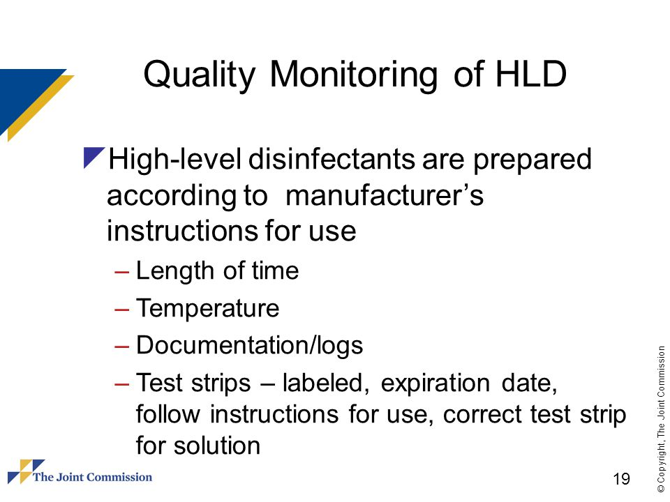 Quality Monitoring of HLD
