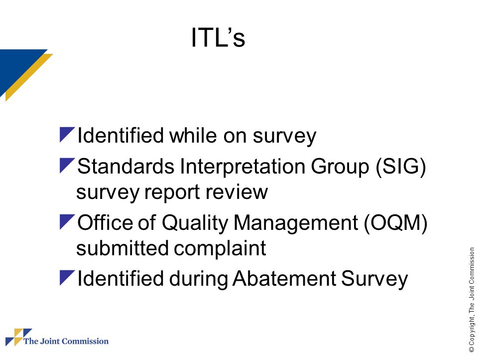 ITL's Identified while on survey