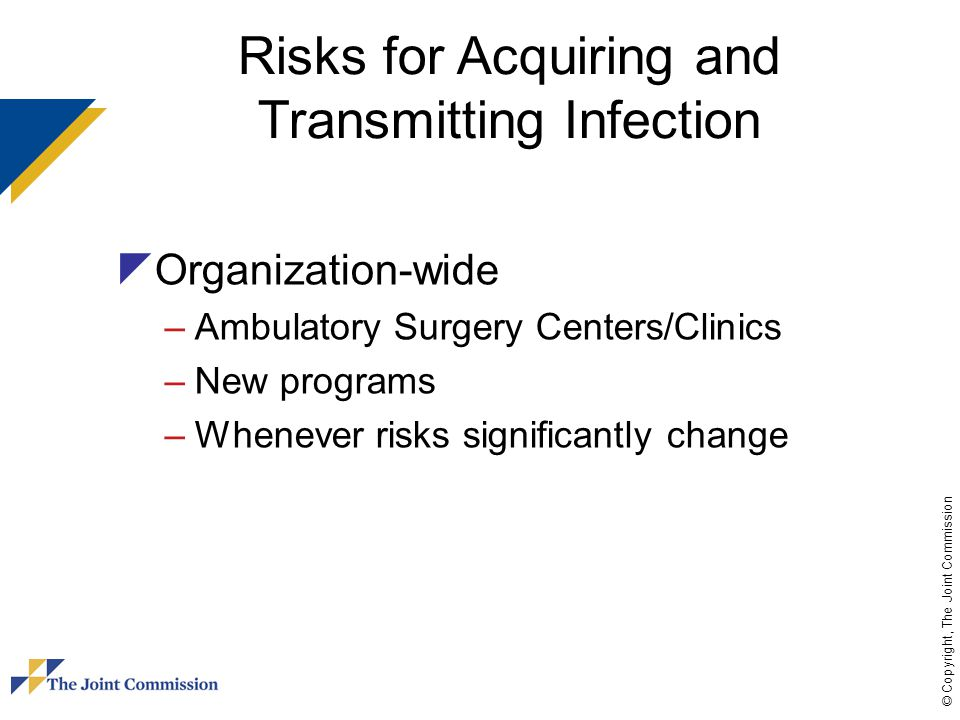Risks for Acquiring and Transmitting Infection